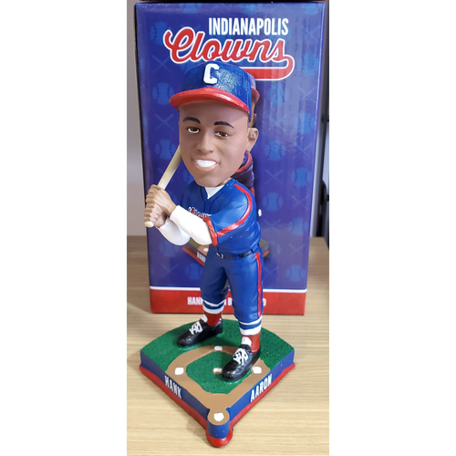 "Photo of Hank Aaron ""Indianapolis Clowns"" Bobblehead"