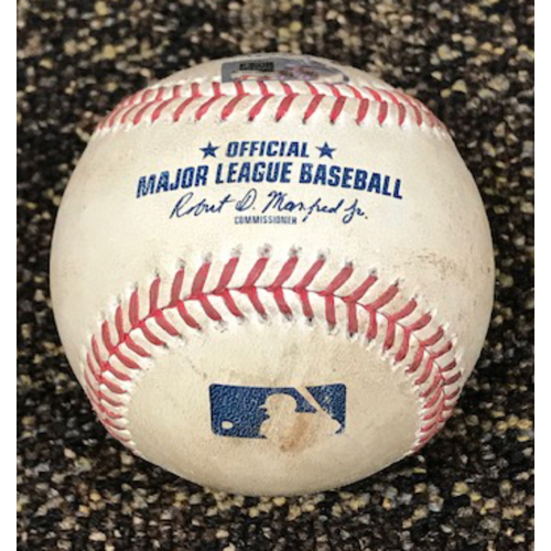 Photo of 8/17/20 Game-Used Baseball, Oakland A's at Arizona Diamondbacks: Zac Gallen vs. Marcus Semien (Single)