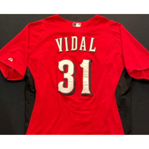 Photo of VIDAL -- Authentic Reds Jersey -- $1 Jersey Auction -- $5 Shipping -- Size 46 (Not MLB Authenticated)