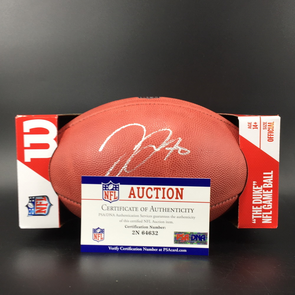 NFL - Chargers Trai Turner Signed Authentic Football W/ 100 Seasons Logo