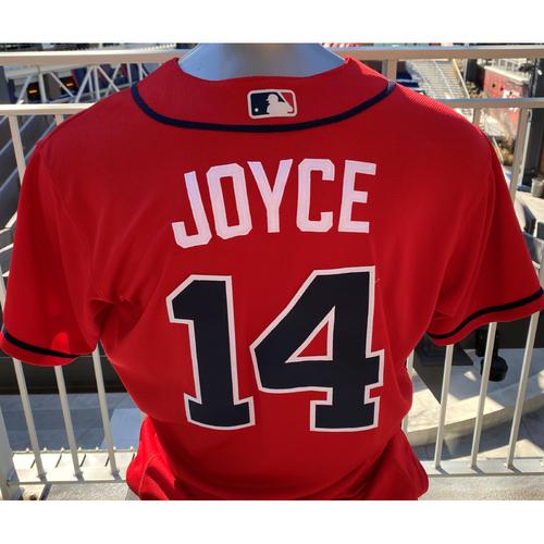 Photo of Matt Joyce Game-Used Los Bravos Red Jersey