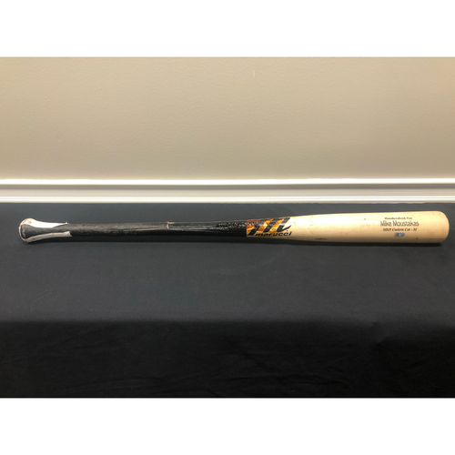Photo of Mike Moustakas -- Game-Used Broken Bat -- 09/25/20 - MIN vs CIN - 2nd Inning - Berrios to Moustakas (Pop Out)