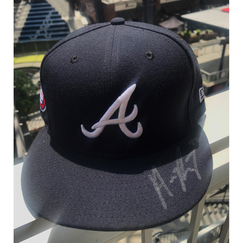 Photo of Austin Riley Autographed MLB New Era Memorial Day Cap