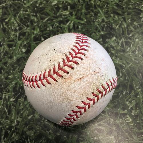 Photo of Game-Used Baseball PIT@MIL 06/12/21 - Corbin Burnes - Ka'ai Tom: RBI Triple (First Career Triple)