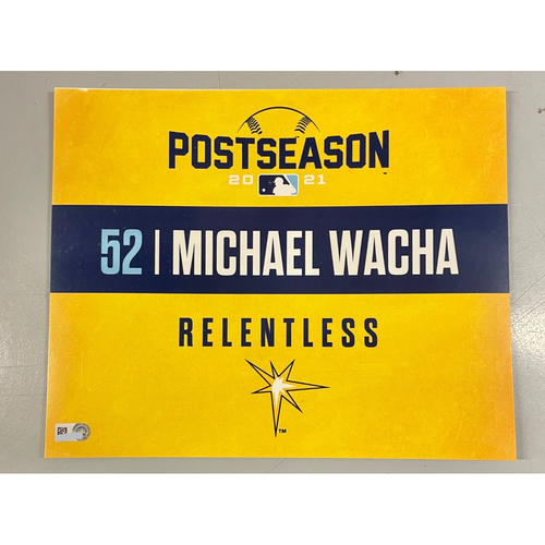 Photo of Game Used ALDS Locker Tag: Michael Wacha - Game 1 & 2 - October 7-8, 2021 v BOS