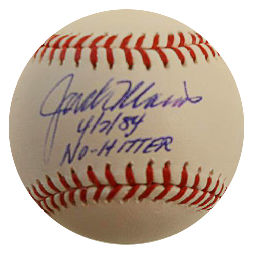 "Photo of Detroit Tigers Jack Morris Autographed Inscribed ""No-Hitter"" Baseball"