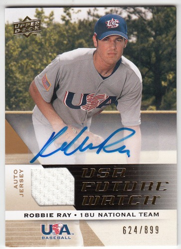 Photo of 2009 Upper Deck Signature Stars USA National Team Future Watch Jersey Autographs #37 Robbie Ray/899