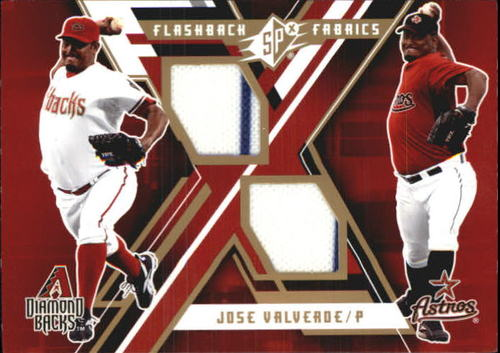Photo of 2009 SPx Flashback Fabrics #FFJV Jose Valverde