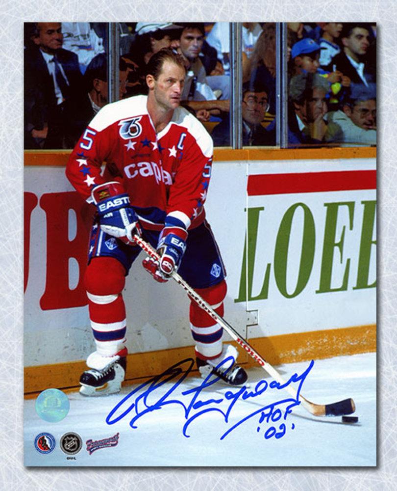 Rod Langway Washington Capitals Autographed Captain 8x10 Photo