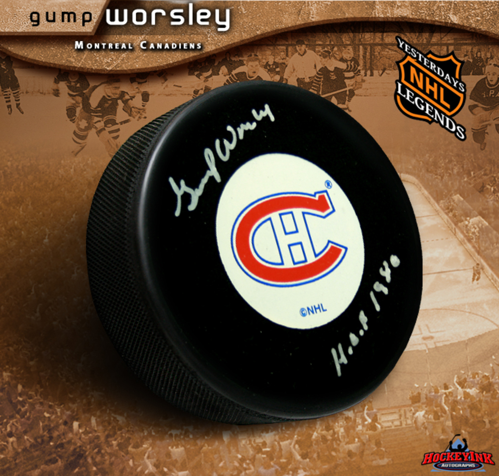 GUMP WORSLEY Signed Montreal Canadiens Hockey Puck