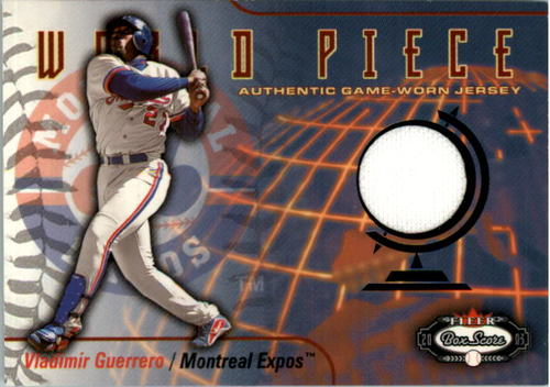 Photo of 2003 Fleer Box Score World Piece Game Jersey #VG Vladimir Guerrero SP/200