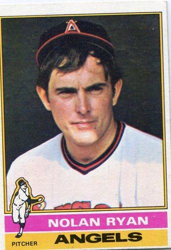Photo of 1976 Topps #330 Nolan Ryan -- Hall of Famer