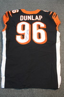 CRUCIAL CATCH - BENGALS CARLOS DUNLAP SIGNED AND GAME WORN BENGALS JERSEY (OCTOBER 29, 2017) SIZE 46