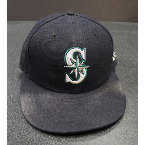 Photo of Ben Gamel Team-Issued Navy Cap 2017. Cap Size - 7