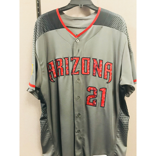 Photo of Zack Greinke Road 4th of July Game-Used Jersey