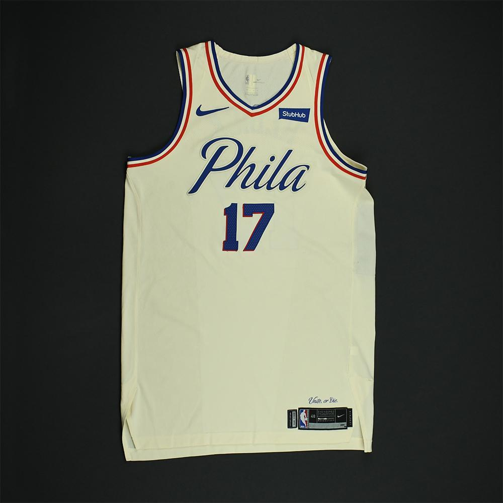 new style ad602 39d23 J.J. Redick - Philadelphia 76ers - Game-Worn 'City' Jersey ...