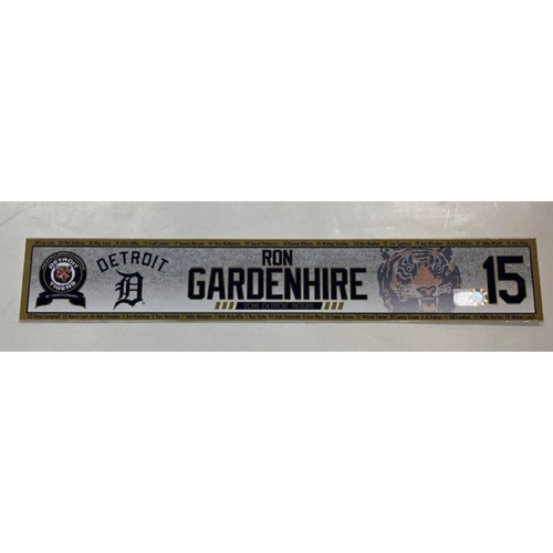 Photo of Game-Used Ron Gardenhire Locker Name Plate
