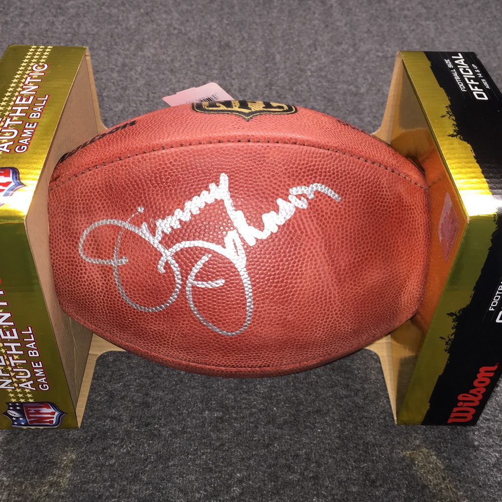 HOF - Cowboys Jimmy Johnson signed authentic football