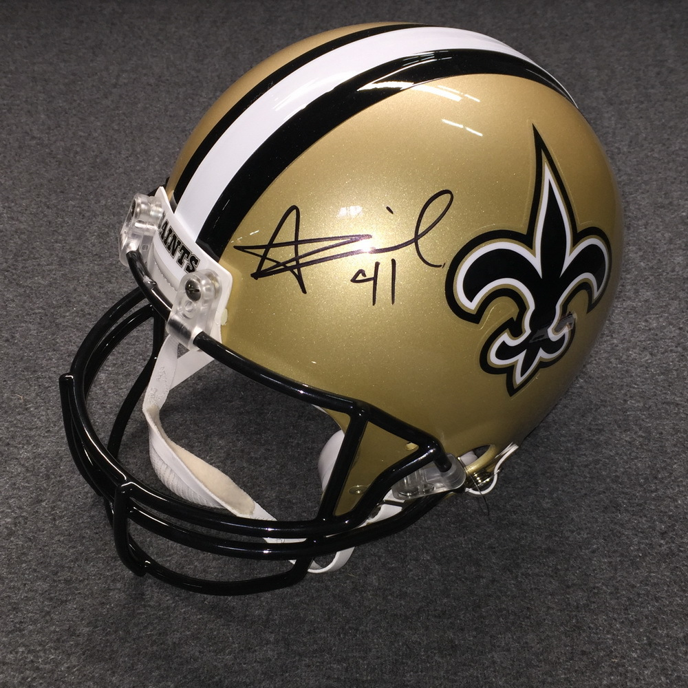 NFL - Saints Alvin Kamara signed Saints proline helmet