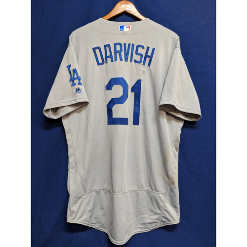 Photo of Yu Darvish Game-Used Road 10 Strikeout Jersey, 2nd Dodger Start