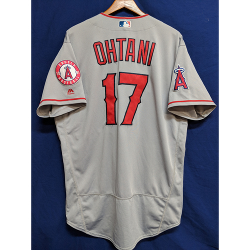 Shohei Ohtani 2018 Game-Used Road  Jersey - Pinch Hit Home Run