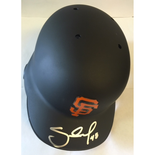 Photo of Pablo Sandoval Autographed Giants Batting Helmet