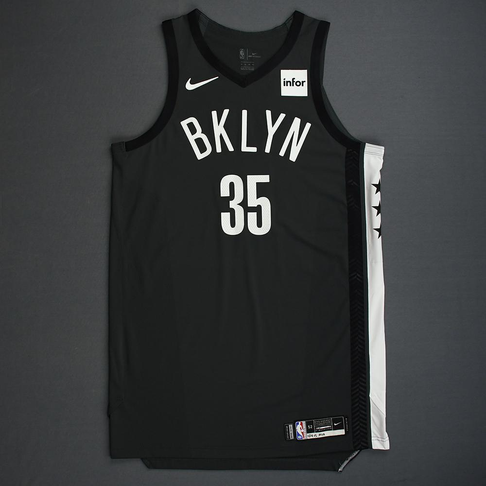 Kenneth Faried - Brooklyn Nets - 2018-19 Season - Game-Worn Gray Statement Edition Jersey