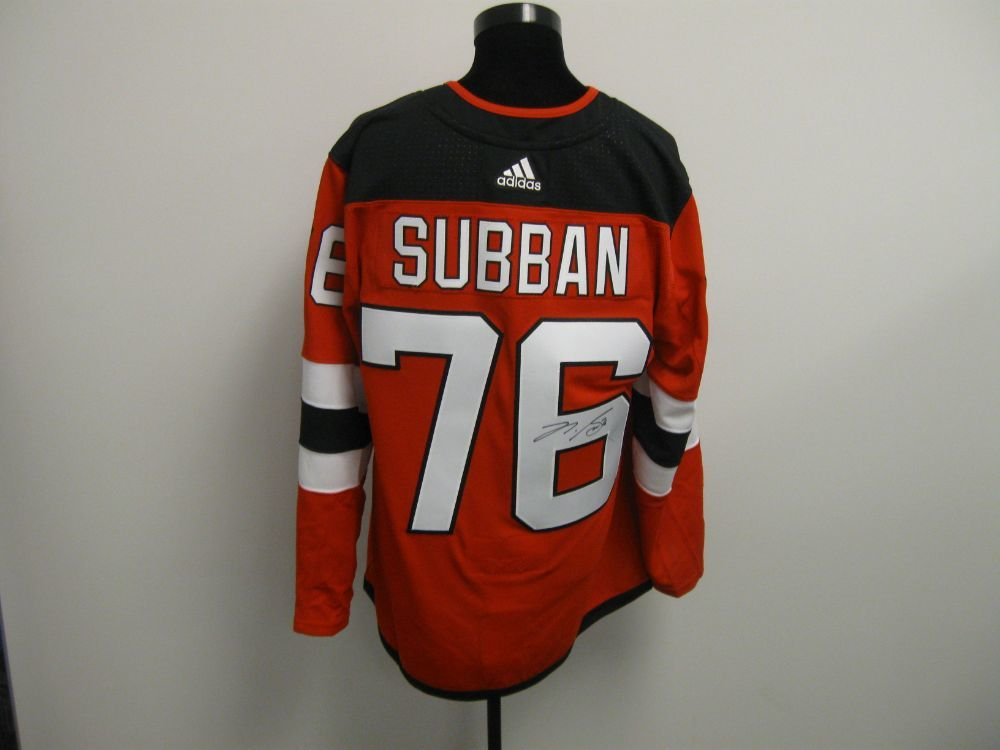 PK Subban Autographed Event Worn Jersey from 2019 Player Media Tour - New Jersey Devils