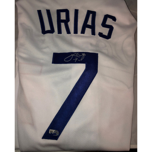 Photo of Julio Urias Authentic Autographed Los Angeles Dodgers Jersey