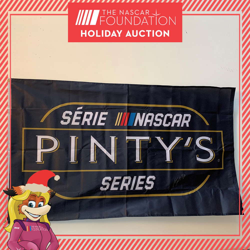 NASCAR'S Pinty's Series Autographed Champions Flag!