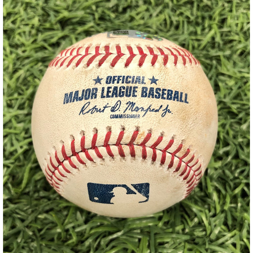 Photo of Game Used Baseball: Austin Meadows double off Tim Mayza - August 7, 2019 v TOR