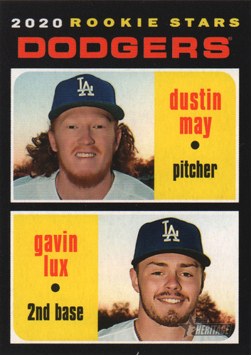 Photo of 2020 Topps Heritage #188 Gavin Lux RC/Dustin May RC