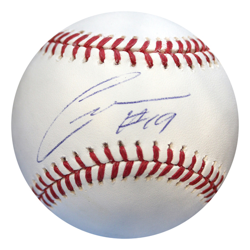 Photo of Autographed Baseball: Cheslor Cuthbert