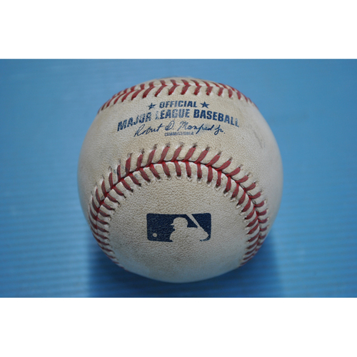Photo of Game-Used Baseball - 2020 ALDS - Tampa Bay Rays vs. New York Yankees - Game 3 - Pitcher - Masahiro Tanaka, Batter - Kevin Kiermaier (Home Run to Right Field) - Top 4