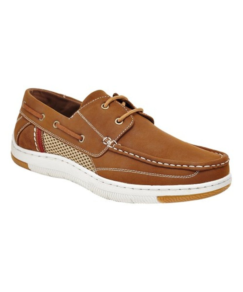 Photo of Marco Vitale Mesh-Accent Boat Shoe