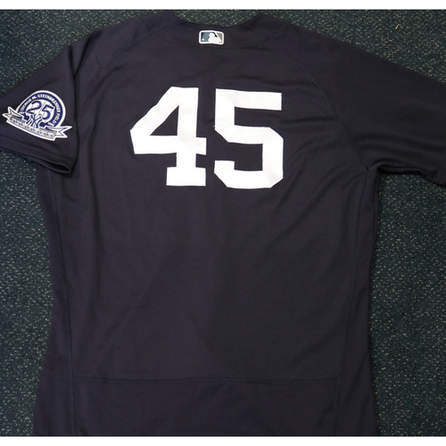 Photo of Team-Issued Spring Training Jersey - Gerrit Cole - #45 - Jersey Size - 48