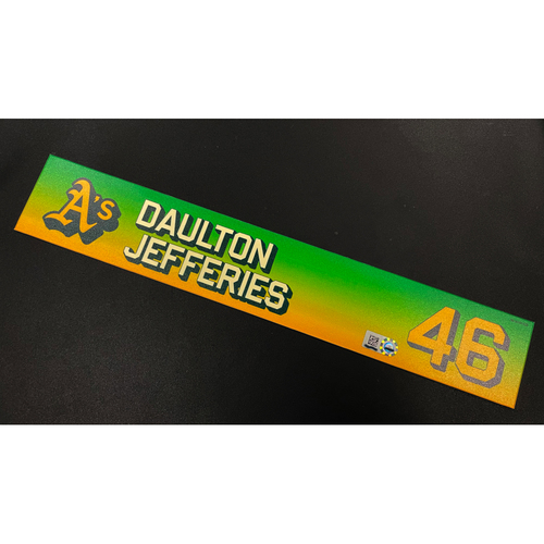Photo of Team Issued 2020 Locker Nameplate - Daulton Jefferies #46
