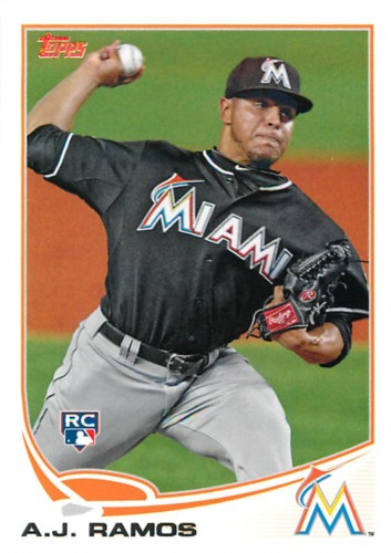 Photo of 2013 Topps #175 A.J. Ramos RC
