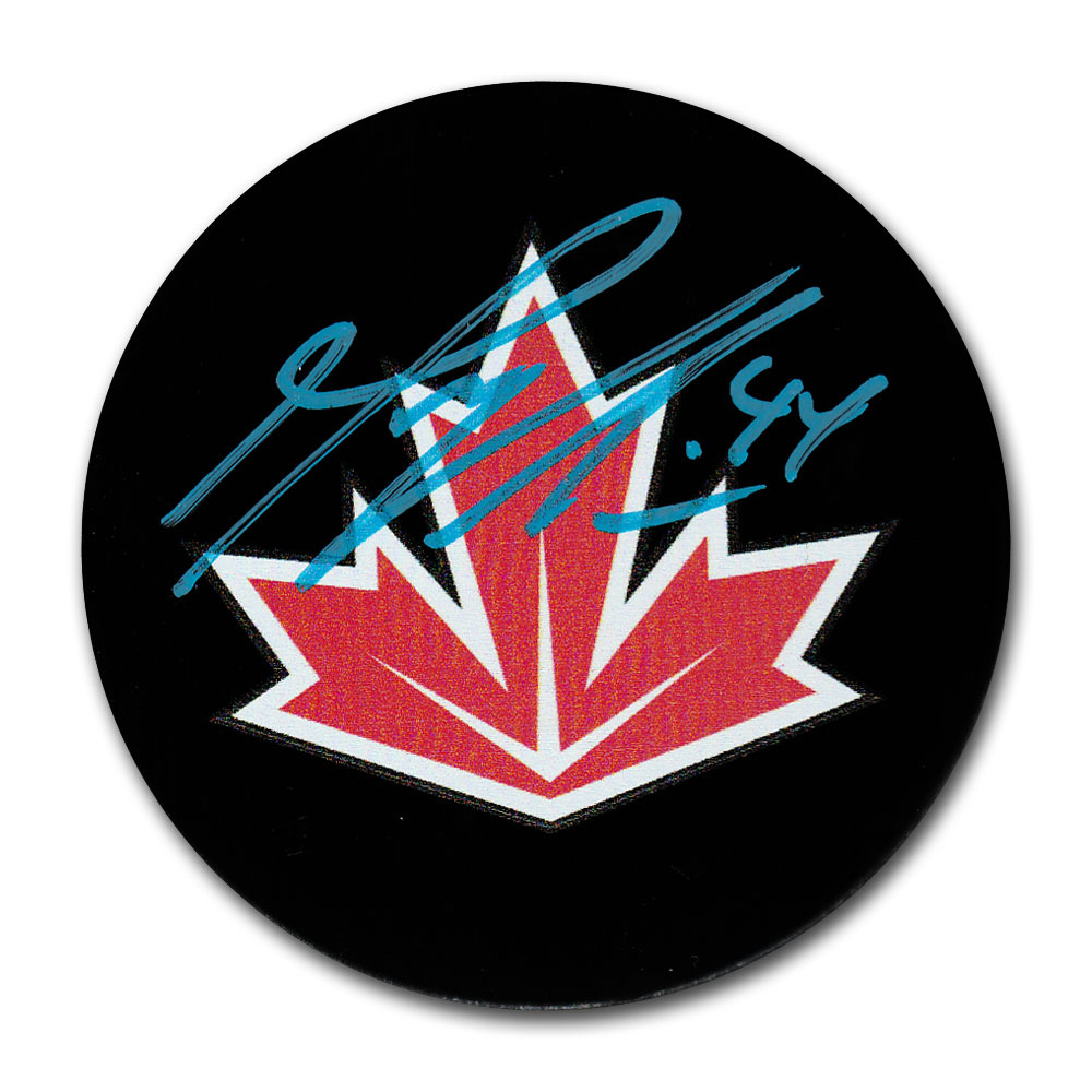 Marc-Edouard Vlasic Autographed Team Canada 2016 World Cup of Hockey Puck