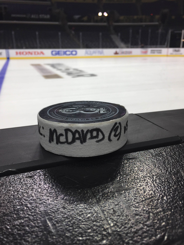 Connor McDavid Edmonton Oilers 2017 NHL All-Star Game Goal-Puck, Finals Match Goal Against Team Metropolitan