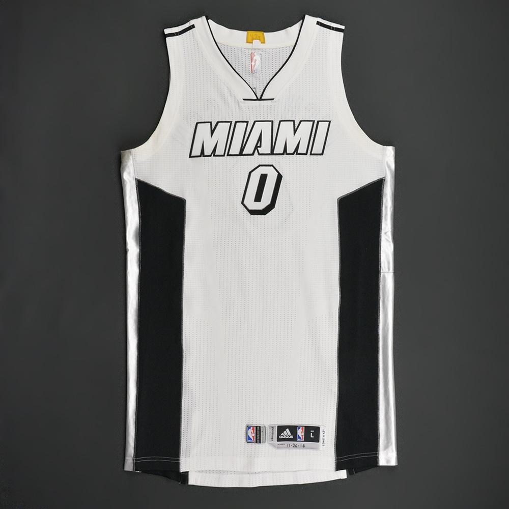 ... Black  competitive price dd546 ecd7f Josh Richardson - Miami Heat -  White Alternate Game-Worn Jersey ... b818c3edc