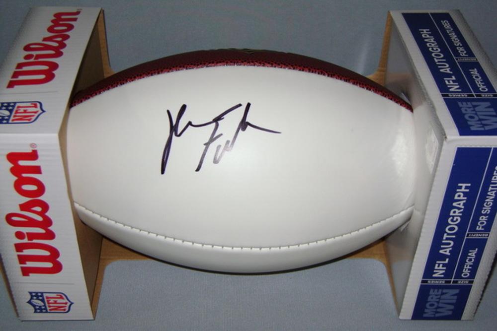 NFL - TEXANS KYLE FULLER SIGNED PANEL BALL