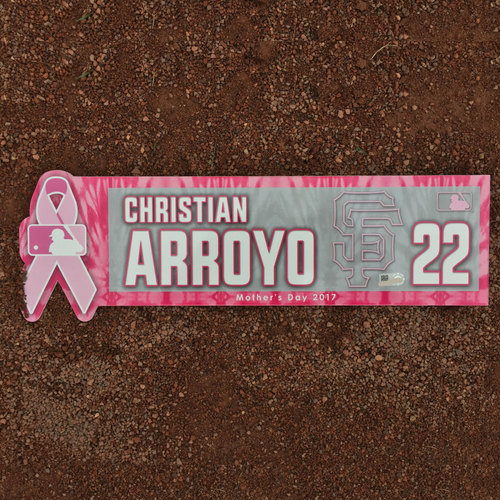 San Francisco Giants - Mothers Day Locker Nameplate - Christian Arroyo