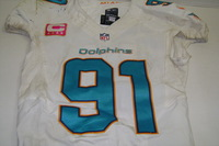 CRUCIAL CATCH - DOLPHINS CAMERON WAKE GAME WORN DOLPHINS JERSEY (OCTOBER 9, 2016)