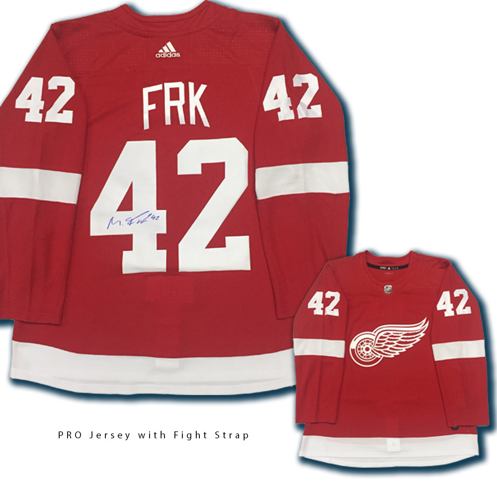 MARTIN FRK Signed Detroit Red Wings Red Adidas Jersey