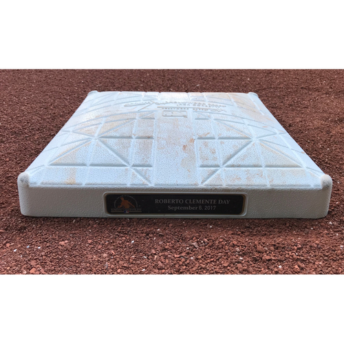 Photo of Game-Used Base: Roberto Clemente Day base (Nationals vs Marlins 9/6/17)