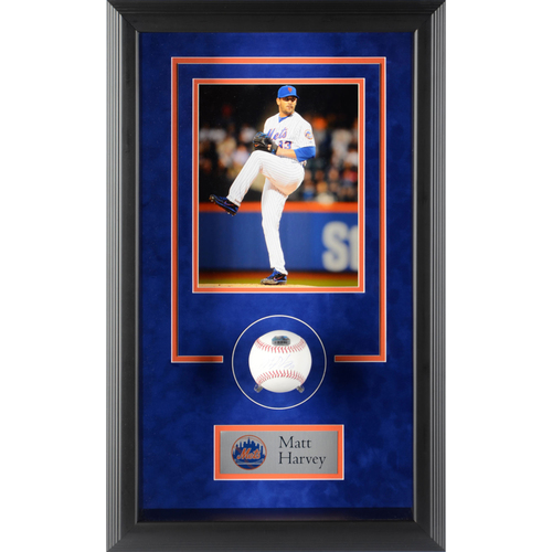 Photo of Matt Harvey New York Mets Framed Autographed Baseball Shadowbox