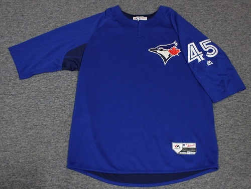 Photo of Authenticated Team Issued Batting Practice Jersey - #45 Thomas Pannone. Size XL.