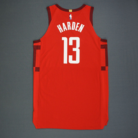 James Harden - Houston Rockets - Christmas Day 18' - Game-Worn Earned Statement Edition Jersey - Scored 41 Points