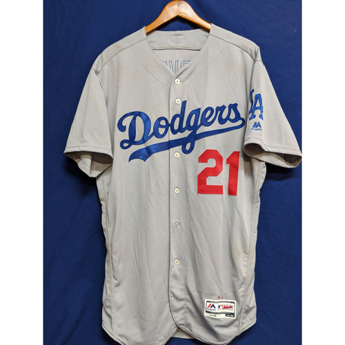 more photos 51c88 13704 MLB Auctions | Yu Darvish Game-Used Road 10 Strikeout Jersey ...